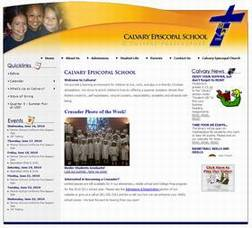 Calvary School uses their Enterprise site to inform students and parents with 'real-time' up-to-date content!
