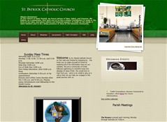 The Church of St. Patrick is just now learning the rich ministry that can be displayed by their site...