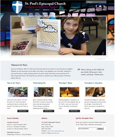 The St. Paul's site is built on the custom WordPress templates unique to KEPHA client's -- can we build one for you?